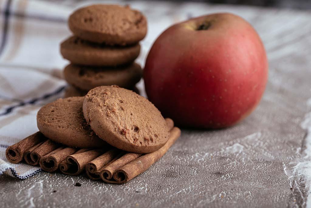 sugar free cookie μήλο κανέλλα